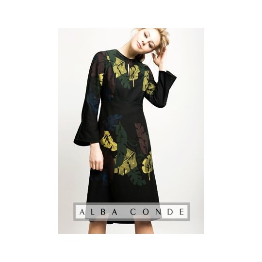 Vestido ALBA CONDE hojas
