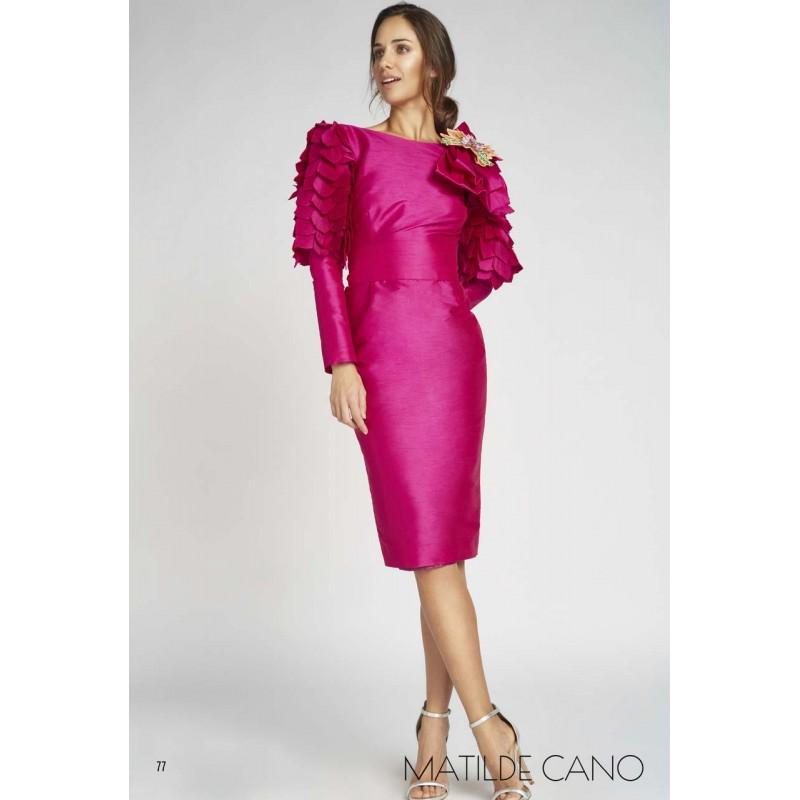 94d5d8d12b4 Vestido MATILDE CANO fucsia - Tienda de Ropa Online - Boutique Valentina