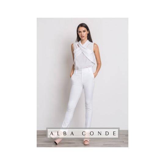 Pantalón ALBA CONDE blanco