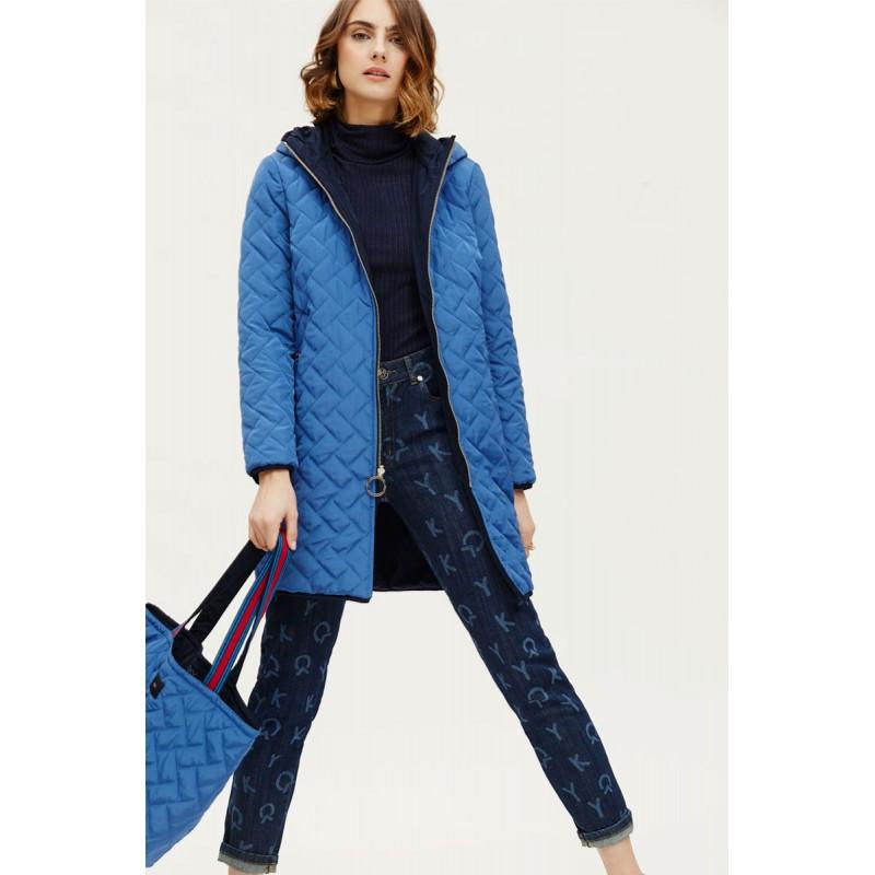 Abrigo OKY COKY reversible azul