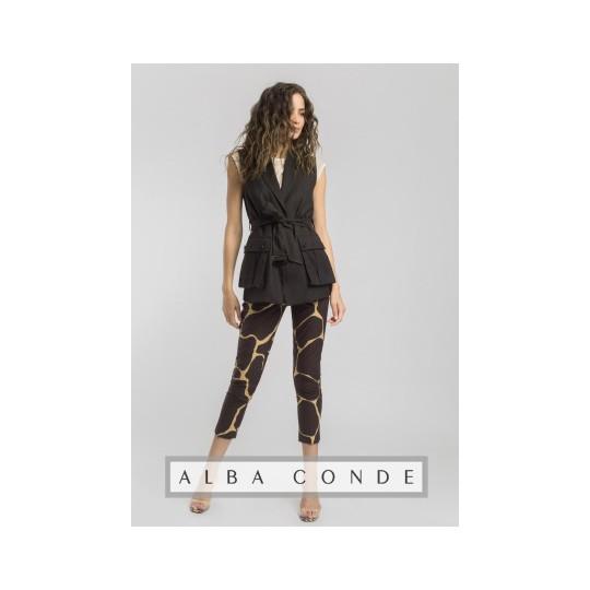 Pantalón ALBA CONDE estampado marrón