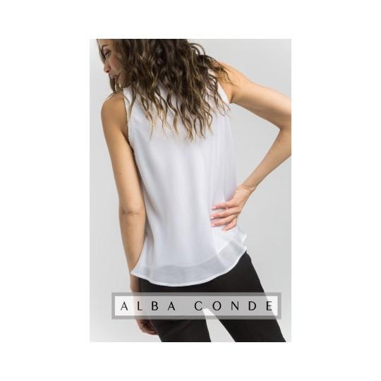 Top ALBA CONDE blanco