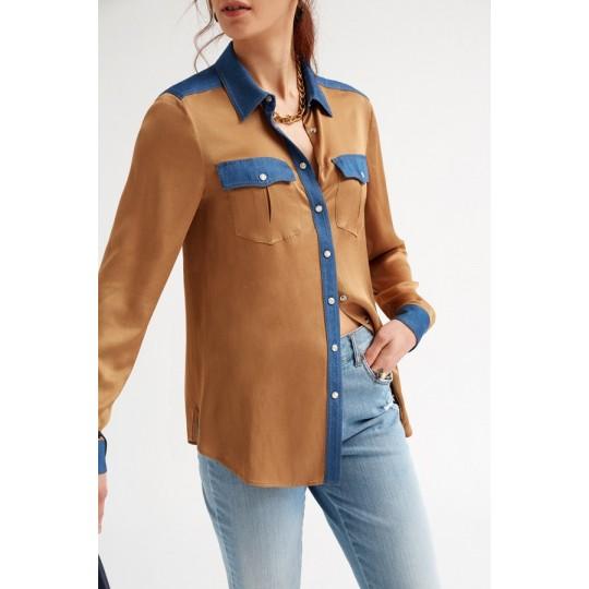 Camisa OKY COKY con bolsillos